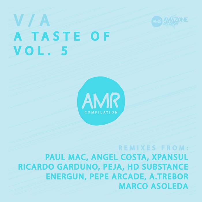 """ A taste of vol 5""_ compilation (Paul Mac, Angel Costa, Ricardo Garduno, Peja,...) cover art"