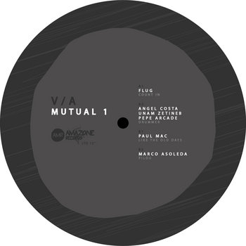 "v/a "" Mutual 1""_ Flug _ Paul Mac_ Angel Costa + Unam Zetineb + Pepe Arcade_ Marco Asoleda /Amazone ltd 05 12"" cover art"