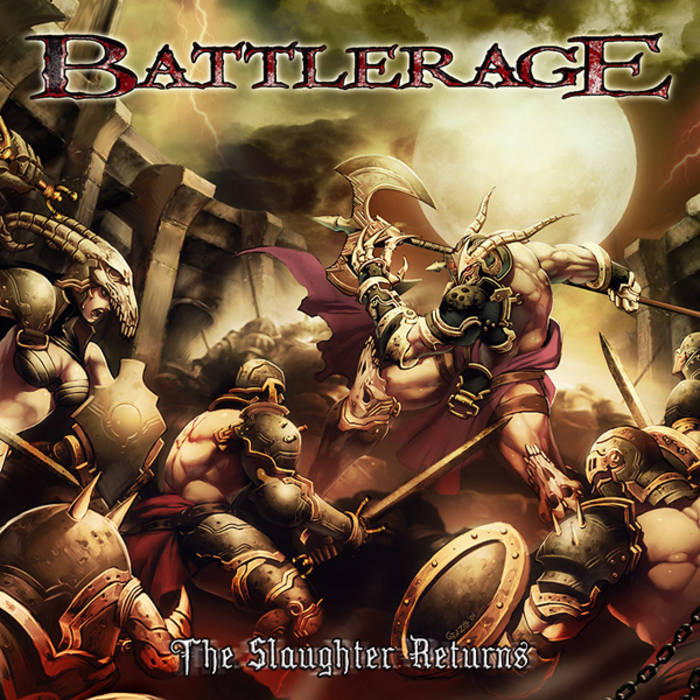 "BATTLERAGE ""The Slaughter Returns"" cover art"
