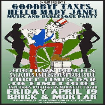 GOODBYE TAXES, HELLO MARY JANE! Live at Brick & Mortar cover art