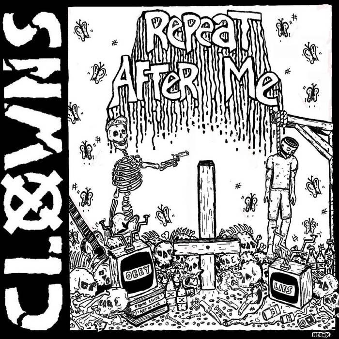"Clowns//Them Orphans Split 7"" (Repeat After Me 7"") cover art"