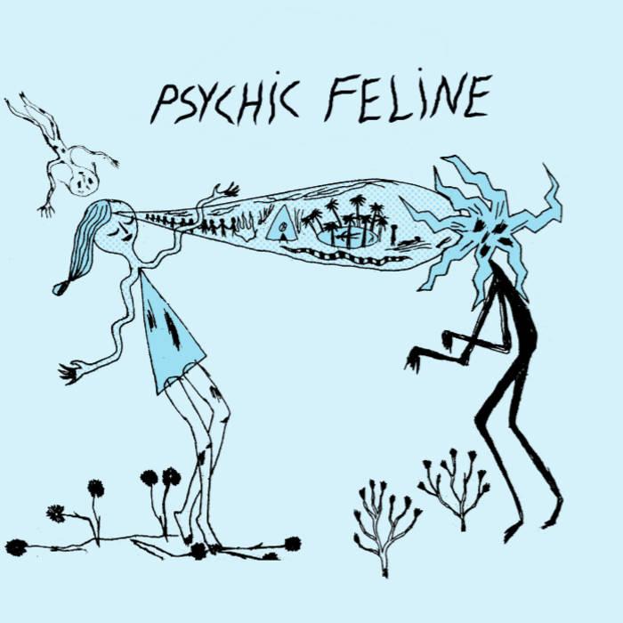 """Blood Dolphin, Headache b/w Vampires 7"""" EP cover art"""