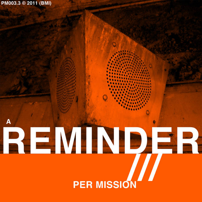 A REMINDER (orange) cover art