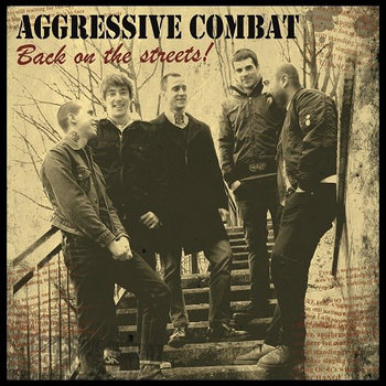 "FR 002: Aggressive Combat ""Back On The Streets!"" LP (Sold out!) cover art"