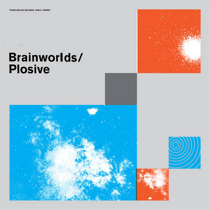Brainworlds / Plosive split LP cover art