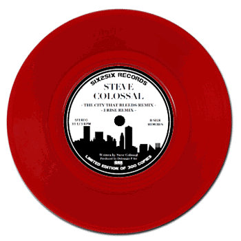 "THE CITY THAT BLEEDS / I RISE Ltd. Ed. 7"" cover art"