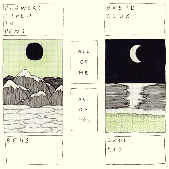 Flowers Taped To Pens//Bread Club//Beds//Skull Kid - Split cover art