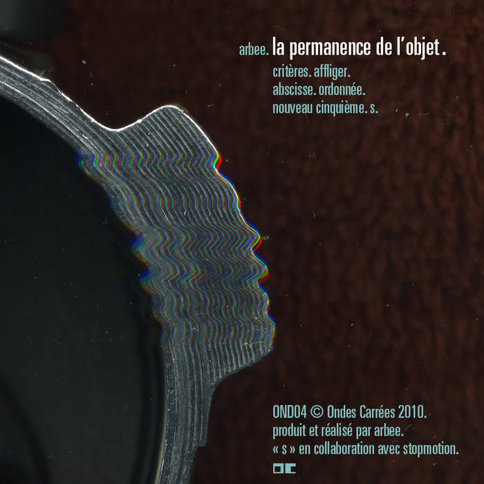 la permanence de l'objet cover art