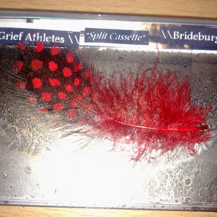 "Grief Athletes \\ Brideburger - ""Split Cassette"" C20 cover art"
