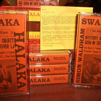 """Swalaka"" - Halaka / Simon Waldram (split tape) cover art"