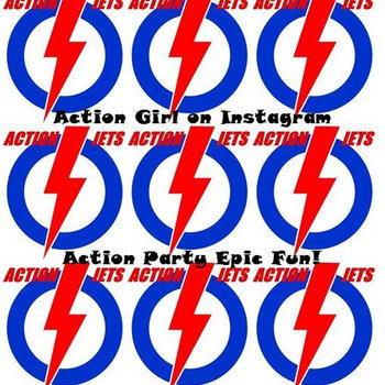 Action Girl on Instagram b/w Action Party Epic Fun! cover art