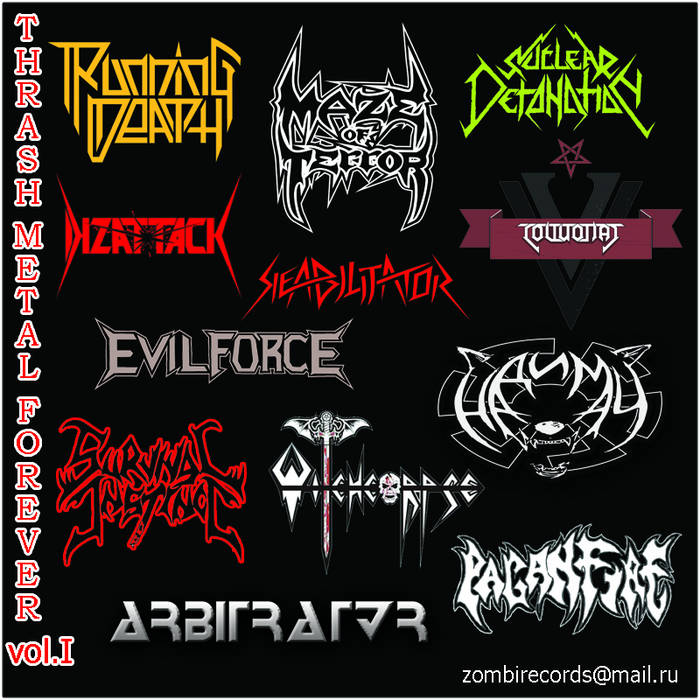 THRASH METAL FOREVER vol. 1 cover art
