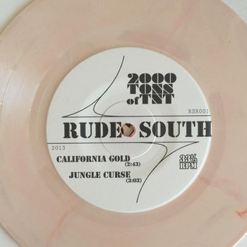 "Rude South 7"" split w/ The Combos cover art"