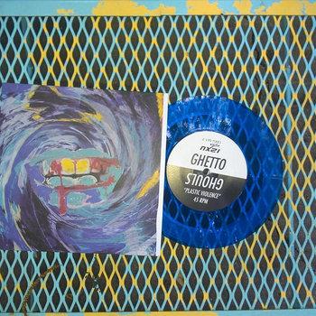 """""""Plastic Violence"""" b/w """"Things"""" 7"""" cover art"""