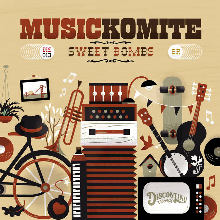 "Music Komite ""Sweet Bombs"" cover art"
