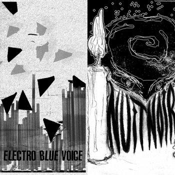 HIS ELECTRO BLUE VOICE / NUIT NOIRE - split cover art