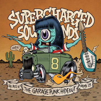 Supercharged Sounds - The Best of the GaragePunk Hideout, Vol. 8 cover art