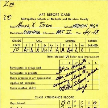 Report Card cover art