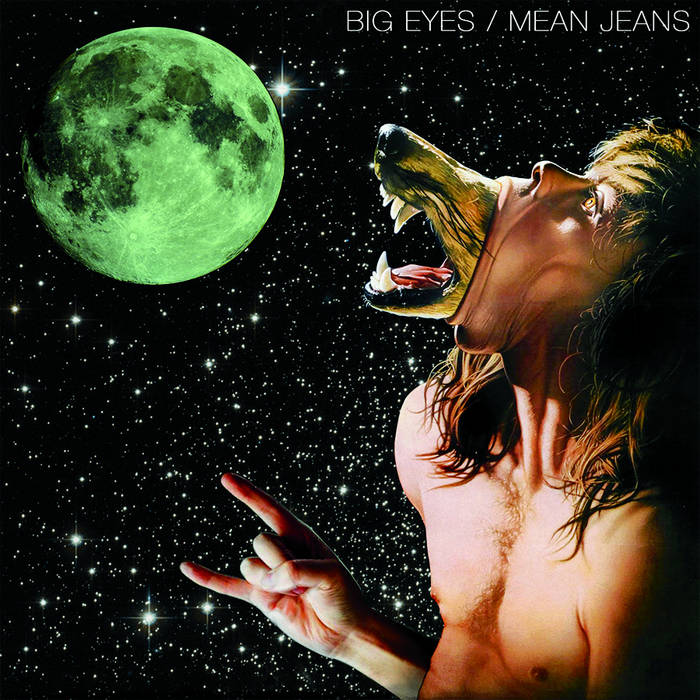 "Mean Jeans/Big Eyes - split 7"" cover art"