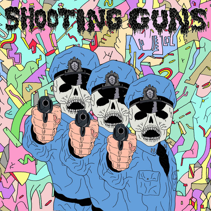 "Shooting Guns/Krang Split 7"" cover art"