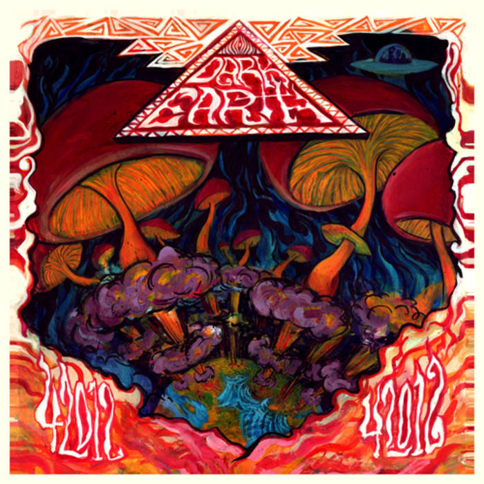 Dark Earth / Bibles and Hand Grenades: Split LP cover art