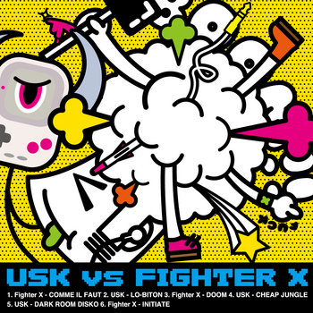 USK v.s FIGHTER X cover art