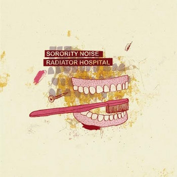 "Sorority Noise/Radiator Hospital Split 7"" cover art"