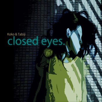 closed eyes. cover art