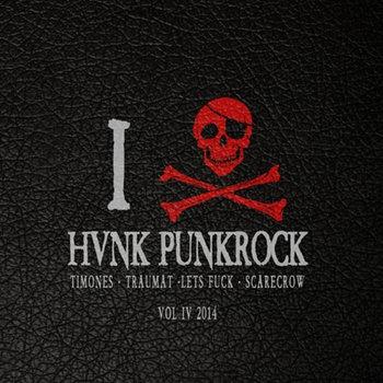 """V/A -HVNK PUNKROCK 7"""" cover art"""