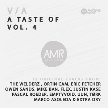 """ A Taste of "" vol 4 _ Compilation 12 original tracks _ Amazone records cover art"