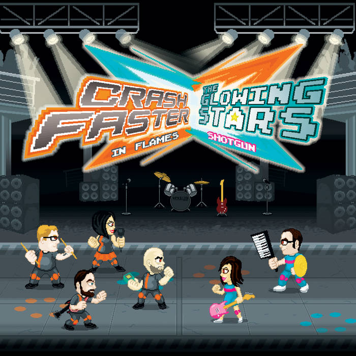 crashfaster vs The Glowing Stars cover art