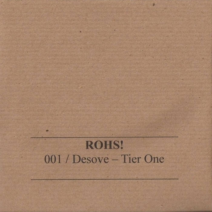 ROHS!001 CD/ Desove - Tier One cover art