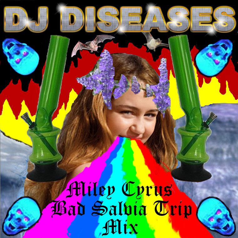 Salvia Trip Art Miley Cyrus Bad Salvia Trip