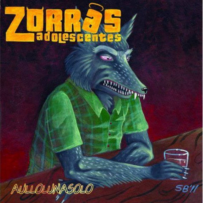 "ZORRAS ADOLESCENTES ""Aullolunasolo"" LP cover art"