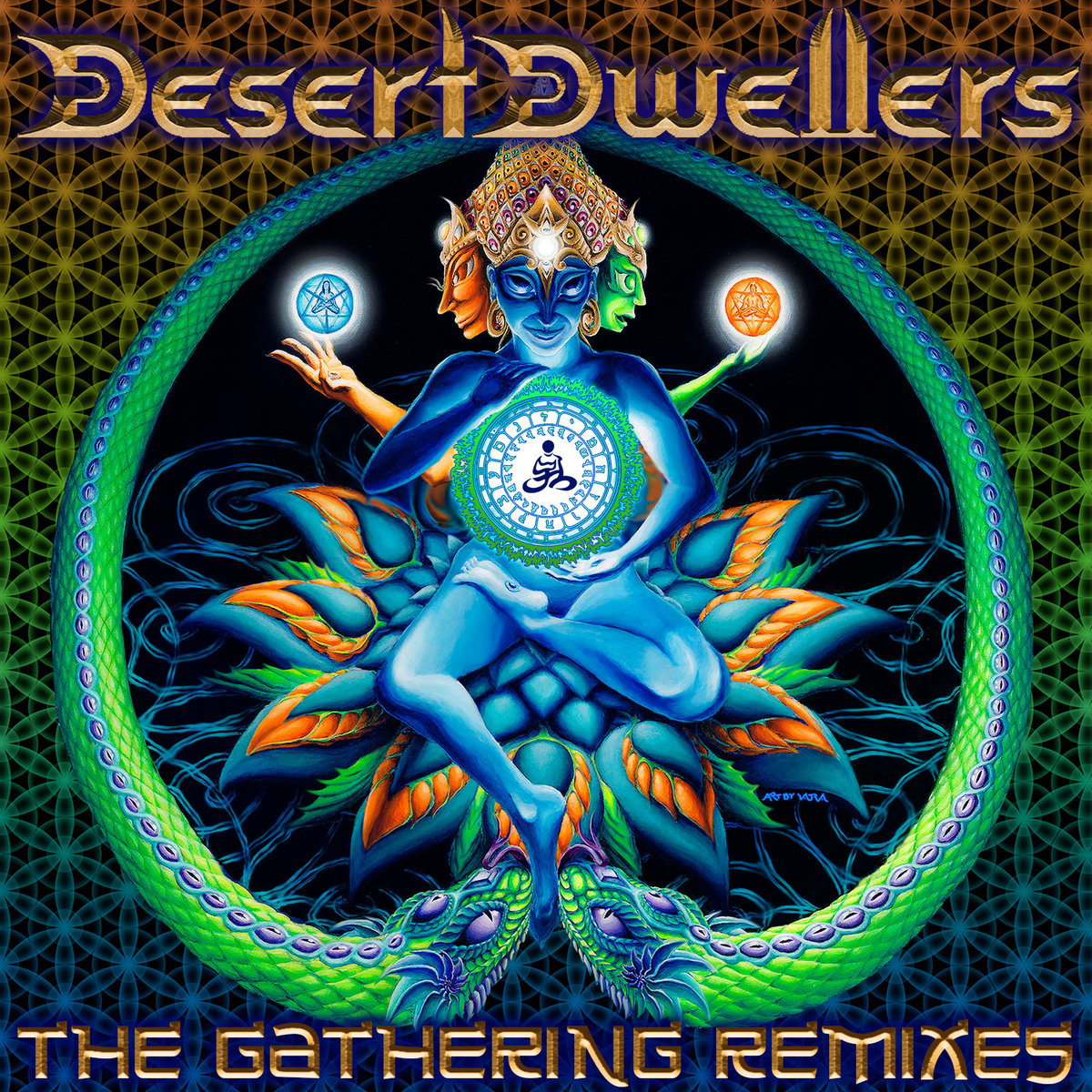 Quade Desert Dwellers The Gathering Remixes remix Glitch Hop Bass Music Synth Organic World Music Yoga Dub Living Light Soulacybin Midtempo 105bpm downtempo dub ethnic downtemple electronic global chill-out psy step sacred bass