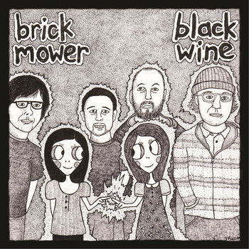 "Black Wine/brick mower 7"" split cover art"