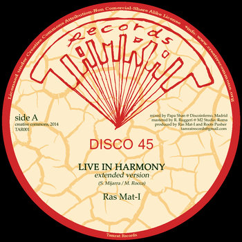"Live In Harmony 12"" cover art"