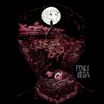 "DK028: Foxes / Iselia - Split 12"" LP cover art"