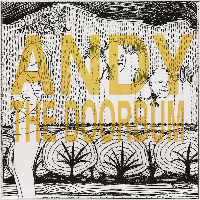 Andy the Doorbum/Yardwork split 7 inch cover art