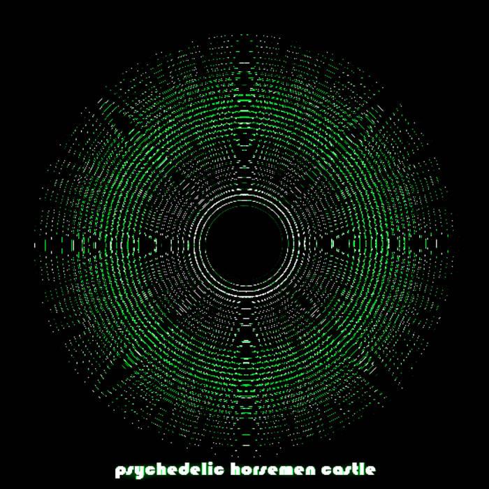 Psychedelic horsemen castle cover art