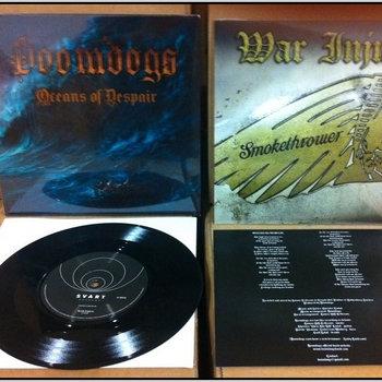 "Doomdogs / War Injun - Split 7"" cover art"