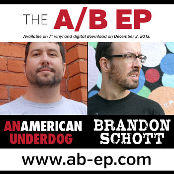 The A/B EP (An American Underdog & Brandon Schott) cover art