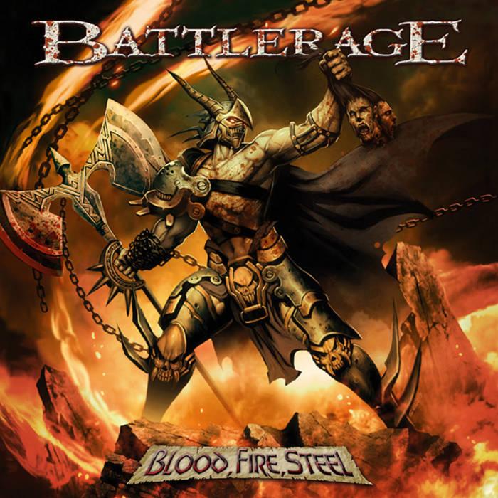 """BATTLERAGE """"Blood, Fire, Steel"""" cover art"""