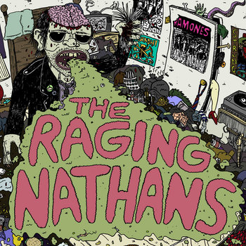 "The Raging Nathans S/T 7"" cover art"
