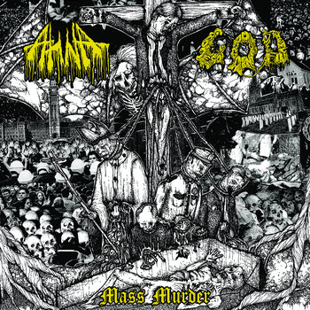 "AHNA Split 12"" with G.O.D (vinyl out Feb 2015, cassette sold out) cover art"