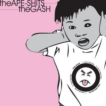 "The Gash / The Ape Shits split 7"" cover art"