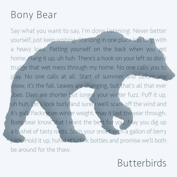 Bony Bear cover art