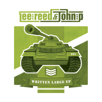 Lee Reed & John P:  Written Large EP cover art