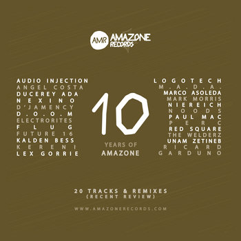""" 10 Years of Amazone "" _ Compilation cover art"