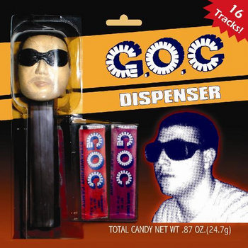 Dispenser cover art